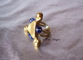 Zora Sapphire Ring Legend of Zelda Ocarina of Time by TorresDesigns