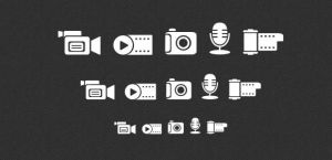 Media icons set (PNG, PSD) by DuckFiles