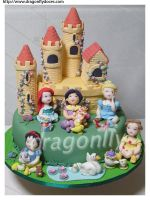 Royal Nursery Cake by dragonflydoces