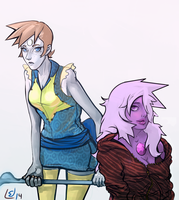 Ame and Pearl by MrJosef