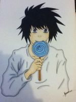 L from deathnote by FISHYANTICS
