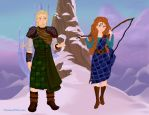 Merida and Young MacGuffin by Eolewyn1010