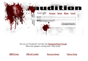 Audition Startpage by AwesomeStart