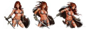Red Sonja Studies by YamaOrce