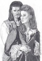 Will Turner + Elizabeth Swann by Kamino185