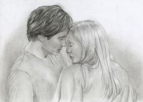 mulder and scully by jojokersina