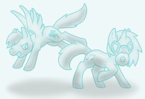 Dash and Vinyl by Gloomy-Butt