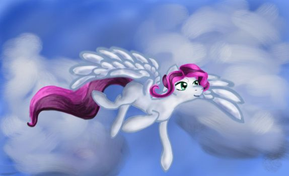 Ponyflyingclouds by PenguinsFromMars