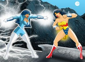 Charger vs. Wonder Woman by EricLinquist