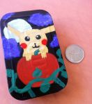 Halloween Pikachu Handpainted Case Front View by tacoroach