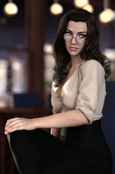 Gina sultry librarian 2 by FranPHolland