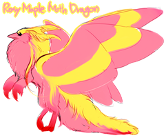 Rosy Maple Moth Dragon by miro1211