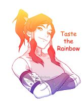 Korra: Taste the Rainbow by MiraiMangaka