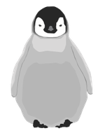 Baby Penguin Vector by Claves