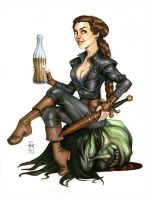 DnD Pinup: The Halfling by Everwho