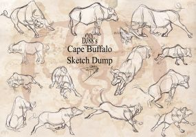 Cape Buffalo Sketch Dump by DJ88