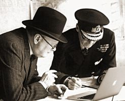 Winston Churchill MacBook Air by awe-inspired