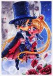 Sailor Moon and Tuxedo Mask by Sayaka-ssi