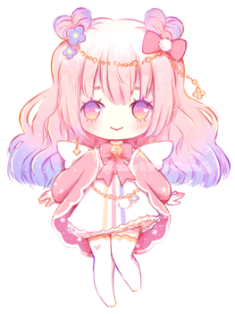 [CLOSED] Cotton Candy Cupid ~ Adopt Auction by Vanilla-Cherie