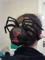 Black Widow hair comb by katerlin