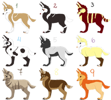 5 POINTS ADOPTABLE PUPPIES CLOSED by Marina-Okami