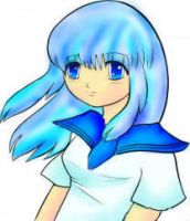Paint Tool SAI Blue Anime Girl by Star1147