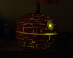Death Star Pumpkin by EHyde