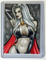 Lady Death Sketch Card by ArtOfRivana