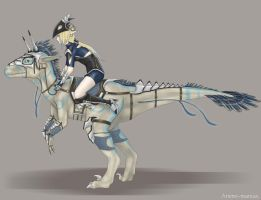 Ride the raptor by Stalaxy