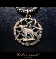 WOLF,Indian amulet by Fenixfutura-photos