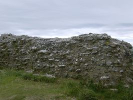stone wall at Corfe Castle by VIRGOLINEDANCER1