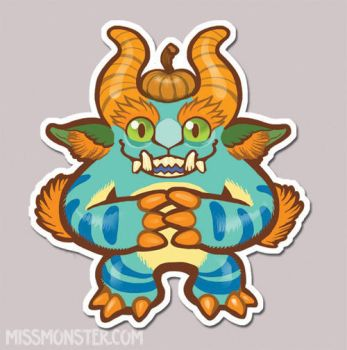 Mose the Monster sticker by missmonster