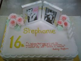 16th Audrey Hepburn Cake by chefkemp