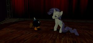 Rarity and the bob-omb by sp19047
