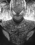 The Amazing Spiderman - Movie Poster Pen Drawing by inhibitus