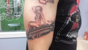 Pinup girl Tattoo by MrBossxxx