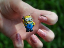 Despicable Me Nail Art - 3D Minion by KayleighOC