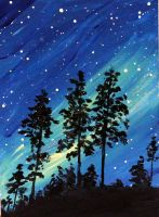 Northern Lights Sky by ThisArtToBeYours