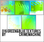 016 Green and Blue Textures by crimemachine
