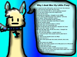 Why do i hate Mlp? by Snowy12221