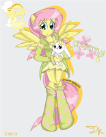 Anthro Fluttershy by Arteses-Canvas