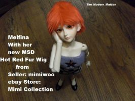 Melfina Red Fur Wig 5 by The-Modern-Maiden