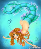Underwater Mermaid by telly0050