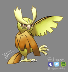 Shiny Noctowl by tjmoonstudios