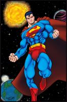 Sunny Superman In Space   Flats By Mr Frisky-d7tim by ColoristChris