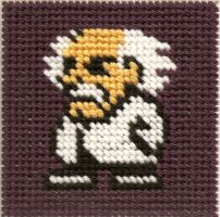 Dr Wily Cross Stitch by ZetaGame