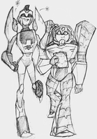 Blurr and Longarm by Chibi-Officer
