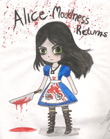 Alice: Madness Returns Fan Art~ by SapphireMiuJewel