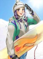 SnowBoarding by AOey