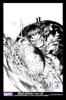 RED HULK COVER 35 by KOIMANDO